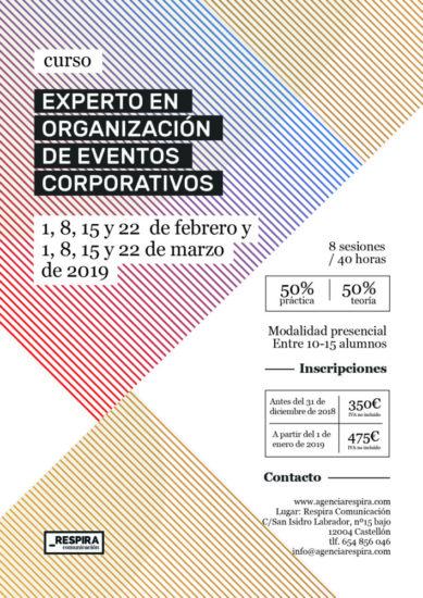 Curso de Experto en Organización de Eventos Corporativos