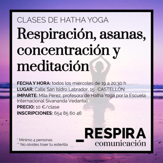 Vuelven las clases de Hatha Yoga en Respira Comunicación