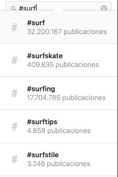 hashtags ejemplos